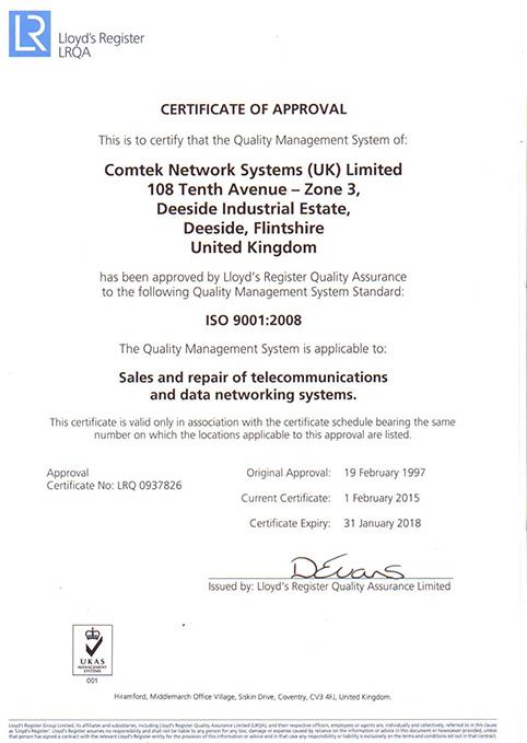 ISO-Zertifikat 9001