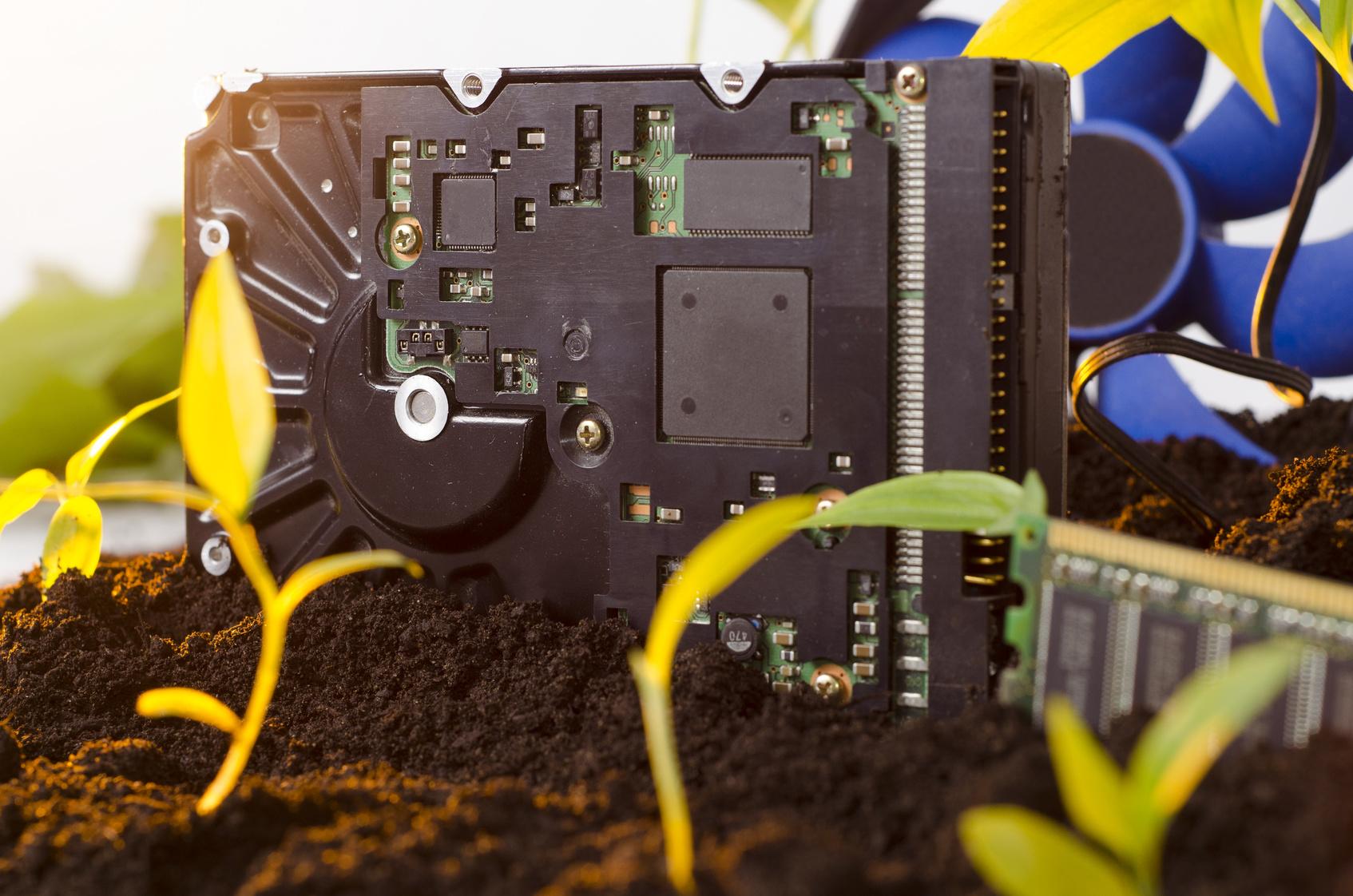 Festplatte im Boden