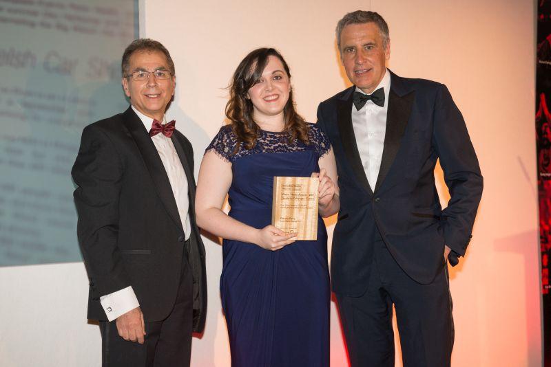 Print News Reporter-Gewinnerin Gemma Parry aus Südwales Evening Post - Askar Sheibani und Dermot Murnaghan