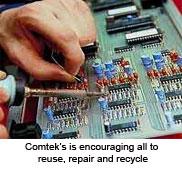 Comtek fördert Wiederverwendung, Reparatur und Recycling
