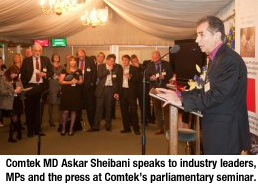 Askar Sheibani Electronics Recycling Parliament Event