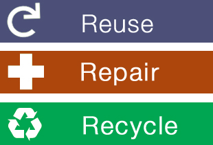 Three Rs - Reuse, Repair & Recycle